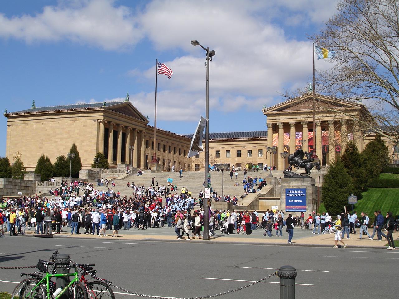 Филадельфия. Музей искусств. Спортивный праздник.