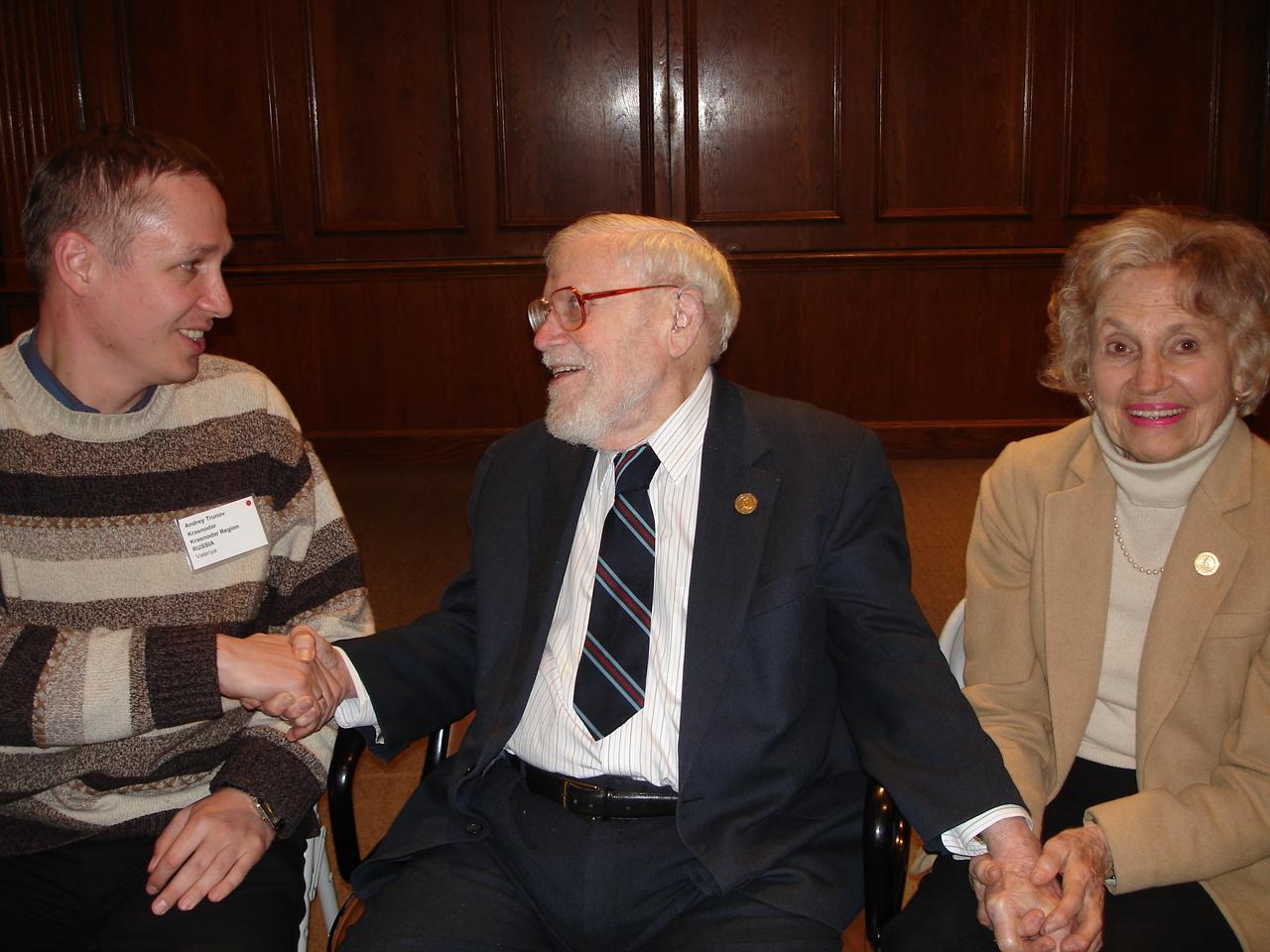 С Гленом Доманом и его супругой