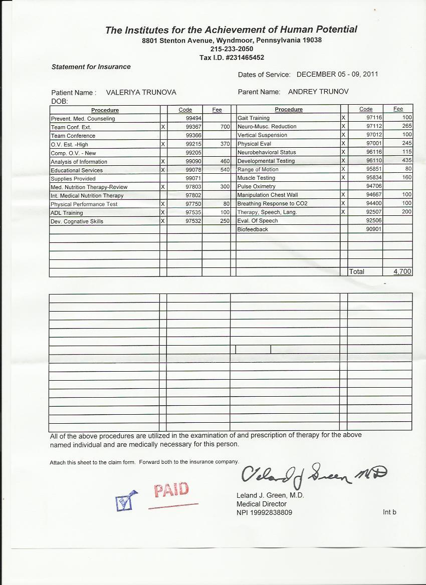 Подтверждение оплаты посещения Институтов (лист 2)