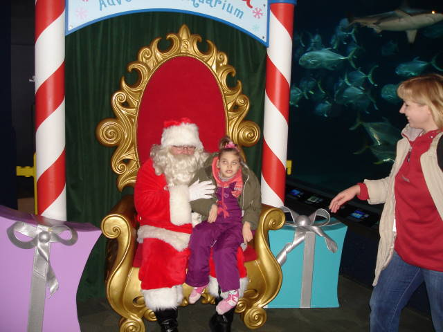 Лера с американским Санта Клаусом