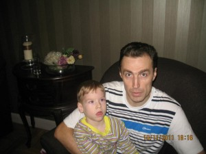 Владислав Мантуров с сыном