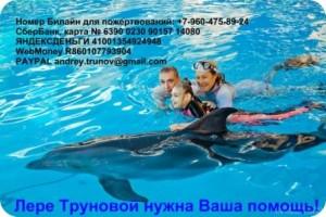 Лера с дельфином и Леной и папой - small