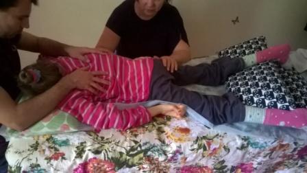 Максим и Наташа работают с Лерой